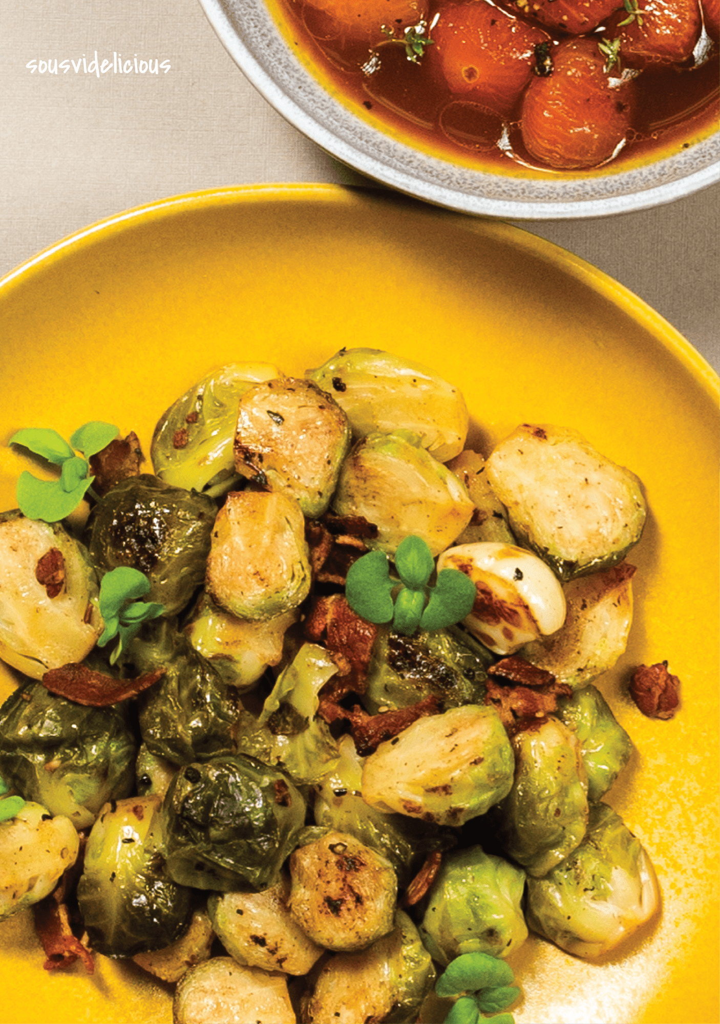 Sous vide Brussel Sprouts by Sousvidelicious